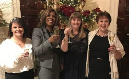 long service awards at REED - women at celebration dinner