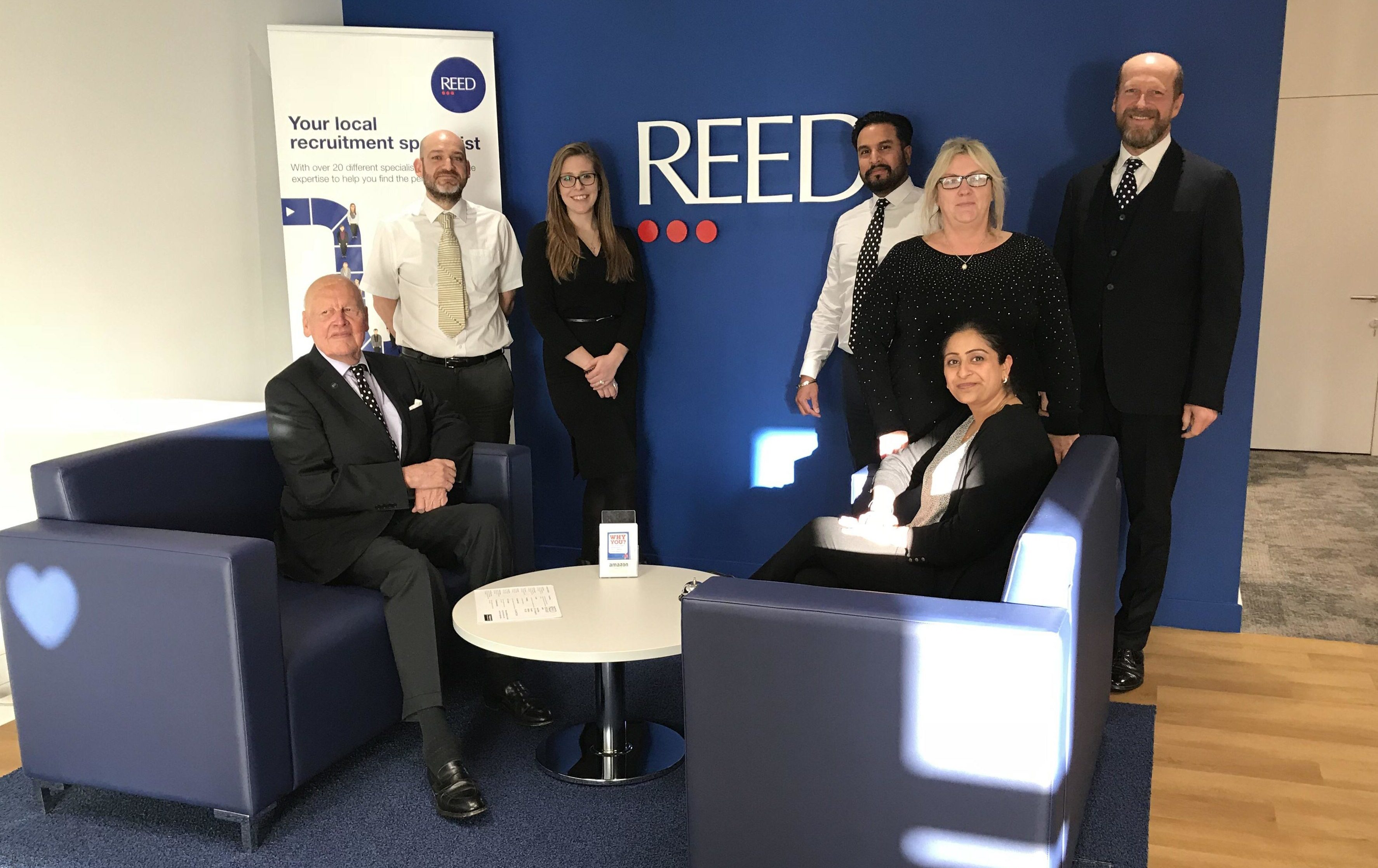 long service at reed - hounslow office 2018