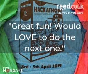 hackathon quote - great fun! would love to do the next one