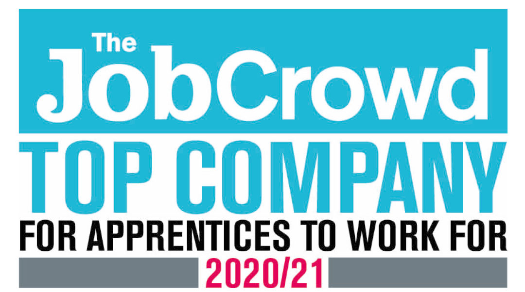 job crowd 2020 - top companies for apprentice to work for 2020/21 logo
