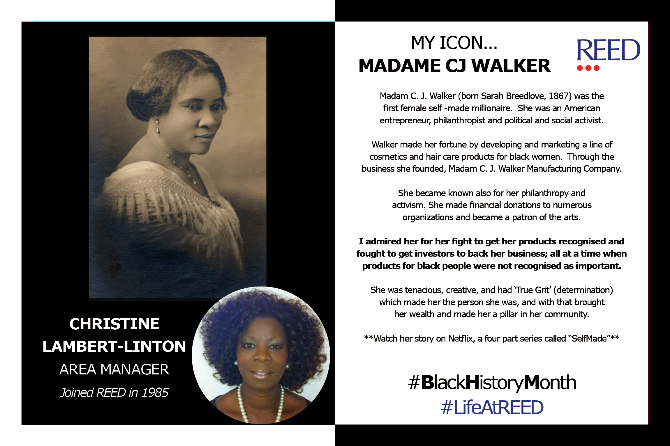 Black Icons Christine Lambert - Madame CJ Walker