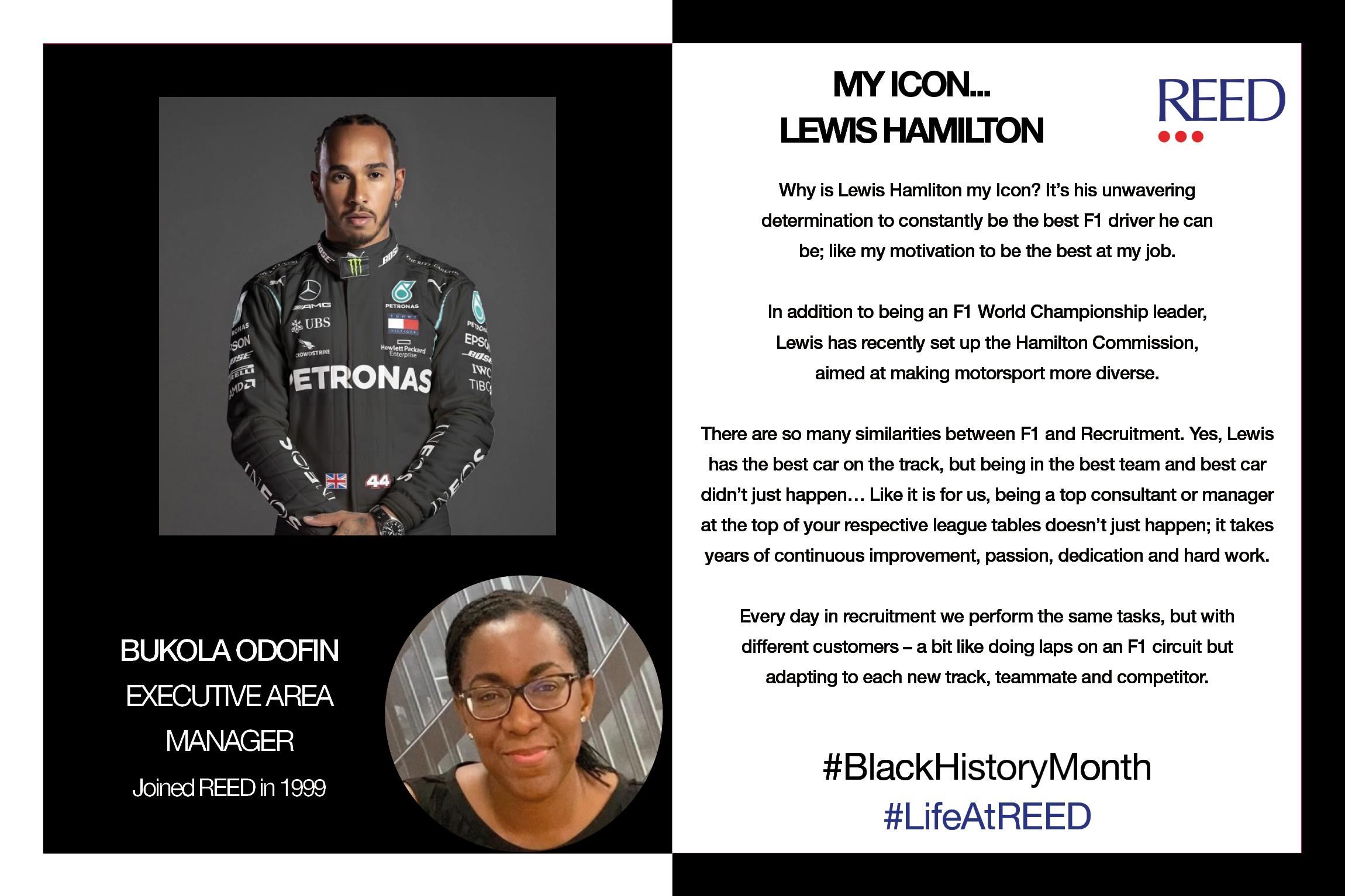 Black Icons Bukola Odofin - Lewis Hamilton