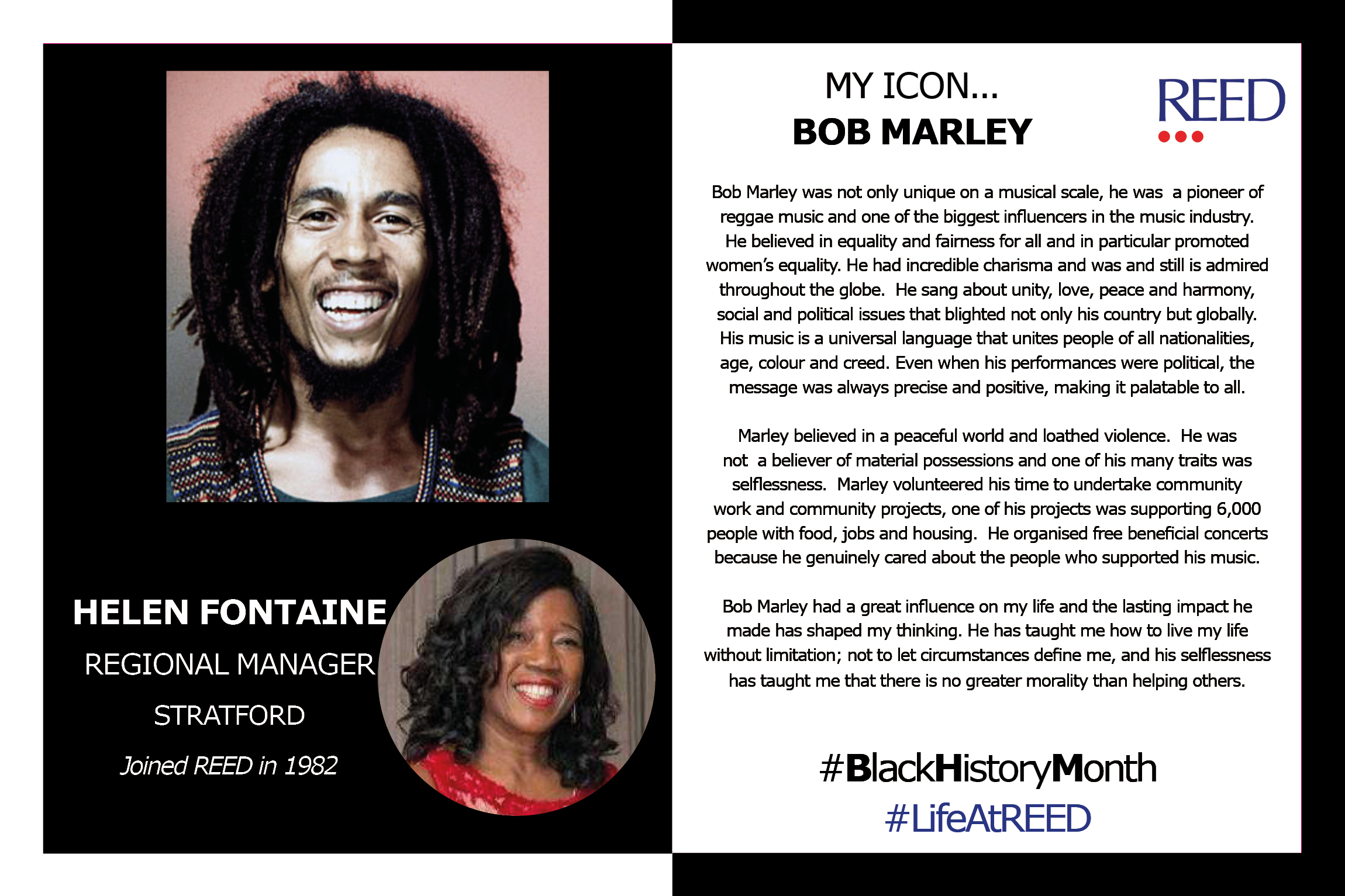 Black Icons Helen Fontaine - Bob Marley updated