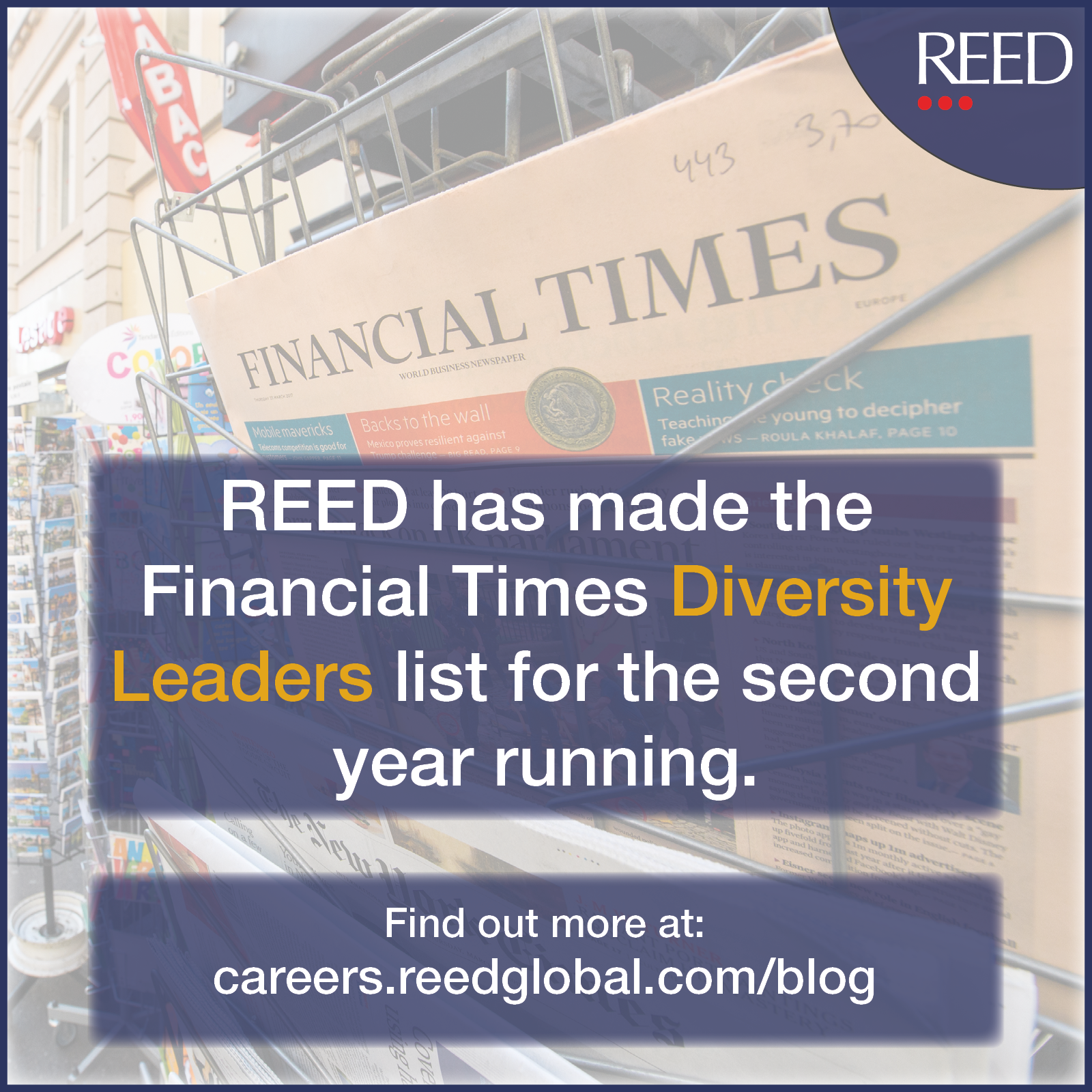 FT Diversity Leader 2020 blog - reed listed in financial times diversity leaders list 2020