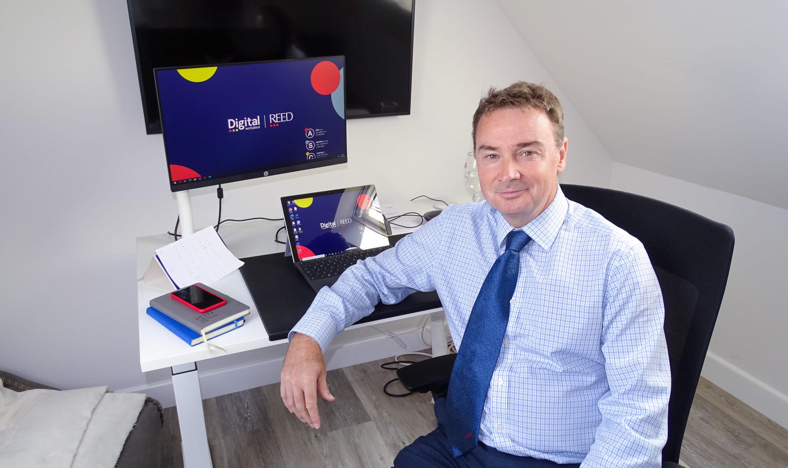 Ian Nicholas - MD of Reed Global with his home Digital Workplace setup
