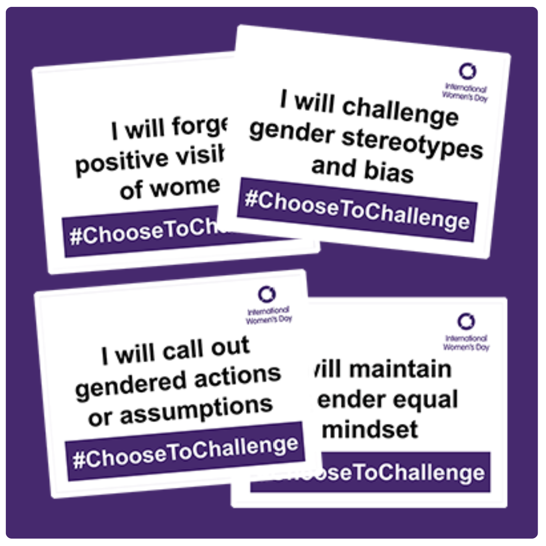 international women's day #choosetochallenge campaign